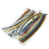 Hits(TM)55pcs 2:1 gaine thermoretractable Gaine thermo 11 couleurs 5 tailles 1mm-5mm