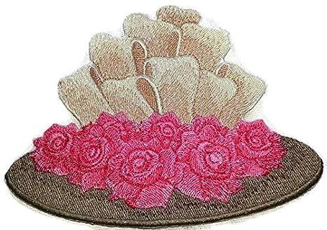 Personalizado y único Victorian sombreros [Victorian sombrero y rosas] hierro bordado en/parche