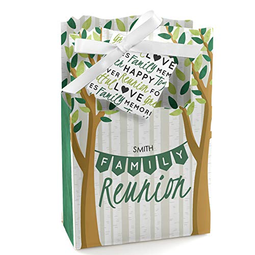 Personalized Family Tree Reunion - Custom Family Gathering Party Favor Boxes - Set of 12