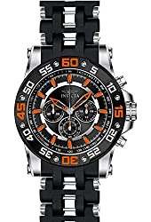 Invicta Men's Sea Spider Black Polyurethane Band Steel Case Swiss Quartz Analog Watch 22475