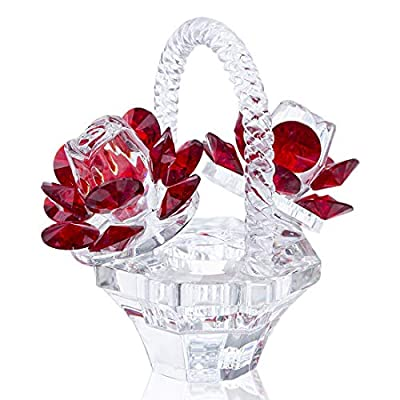 H&D HYALINE & DORA Crystal Figurine Ornament Paperweight Wedding Table Centerpiece Ornament