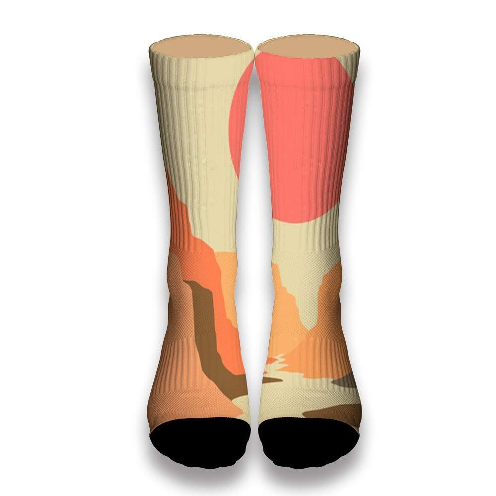 The Red Sun AlyGoo 3D Print Funny Custom Crew Casual Socks