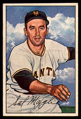 1952 Bowman #66 Sal Maglie NY Giants TRIMMED - Missing Border MLB Baseball Card P Poor ()