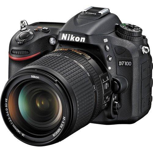 Photo : Nikon D7100 24.1 MP DX-Format CMOS Digital SLR Camera Bundle with 18-140mm and 55-300mm VR NIKKOR Zoom Lens (Black)