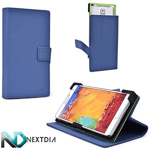 Universal Case, Micromax A106 Unite 2 , Danube Blue with Kickstand Ability + ND Cable Tie by Kroo (Micromax A106 Unite 2 compare prices)