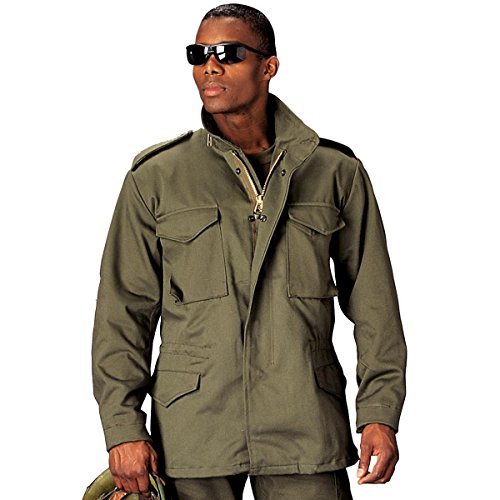 (Ultra Force Olive Drab M-65 Field Jacket-LARGE)