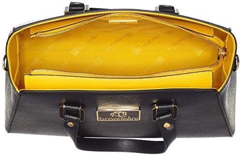 Braccialini Damen Alicia Bowling-Tasche, 33x24x15.5 cm Schwarz