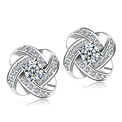 Cubic Zirconia Rhinestone Earrings for Women