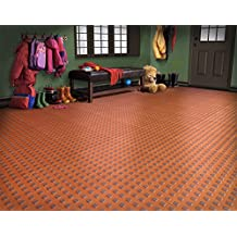 "WeatherTech (51T1212SS RD) TechFloor Solid Floor Tile With Raised Squares, 12"" x 12"""