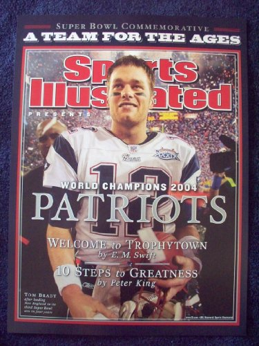 2004 New England Patriots Super Bowl 39 Champions Sports Illustrated SI Tom Brady - Xxxviii Bowl Super