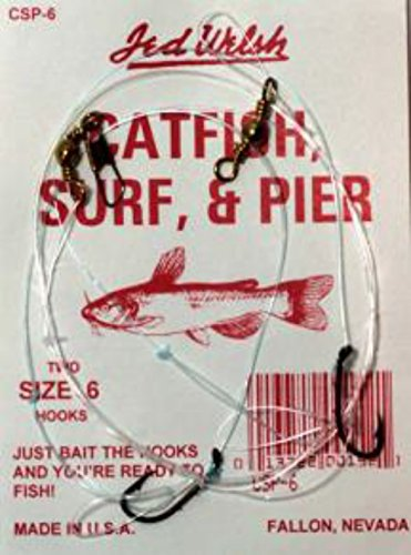 Jed Welsh Fishing Catfish Surf Pier Hook, 2 (Fishing Pier Surf)