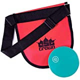 Crown Sporting Goods Discus & Shot Put Carrier Bag - Premium Quality Track & Field Equipment with 2 Pockets & Adjustable Carrying Strap