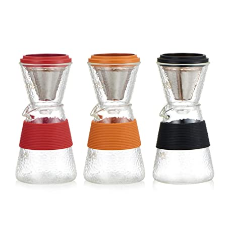 Verter-sobre cafetera tetera, cafetera de goteo set de filtro sin ...