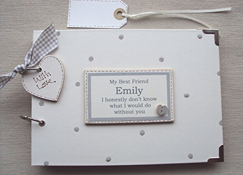 PHOTO ALBUM//SCRAPBOOK//MEMORY BOOK. PERSONALISED 60TH birthday .A5  SIZE.