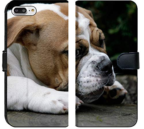 - Apple iPhone 7 Plus and iPhone 8 Plus Flip Fabric Wallet Case Image ID: 7835879 Continental Bulldog Puppy