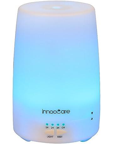 InnooCare 150ml Humidificador Ultrasónico Aromaterapia Difusor de Aceites Esenciales Vapor Frío Luz LED con 7 Colores