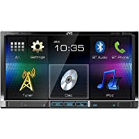 JVC KW-V41BT 2 Din Bluetooth Car DVD Receiver 7 Monitor w Android/iPhone Apps (Certified Refurbished)