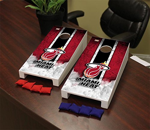 Victory Tailgate Hardwood Classics (Basketball) Miami Heat Hardwood Classic '88-'89 Miami Heat NBA Hardwood Classic Mini Cornhole Game Set by Victory Tailgate