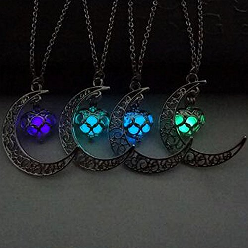 ygdz-top-quality-4-packs-luminous-series-moon-love-heart-pendant-necklace-fluorescent-necklace-glow-