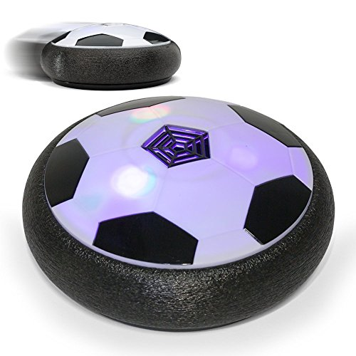 FILIND Hover Ball Air Power Soccer Disc Kids Sports Toys Pneumatic Suspended Floating Hockey Football with Foam Bumpers LED Lights and Music for Indoor or Outdoor Boys Girls Gliding Training Ball by FILIND