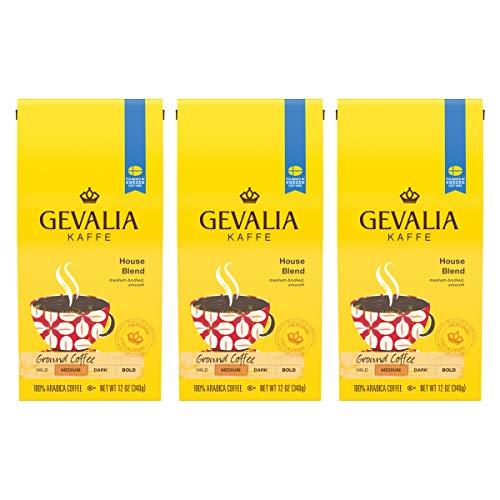 - Gevalia Medium Roast House Blend Coffee (12 oz Bags, Pack of 3)