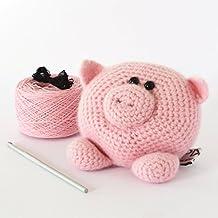 DIY Crochet Kit - Little Pig,DIY Crochet Kits,Amigurumi Kit,Amigurumi Kits,Crochet Kits,Crochet Kit,Knitting Kit,Knitting Kits,crochet,crocheting