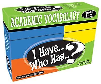 I Have...Who Has...? Academic Vocabulary Grades 1-2