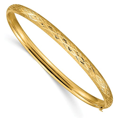14k Yellow Gold 4.75mm Hinged Bangle Bracelet Cuff Expandable Stackable Fine Jewelry For Women Gift Set