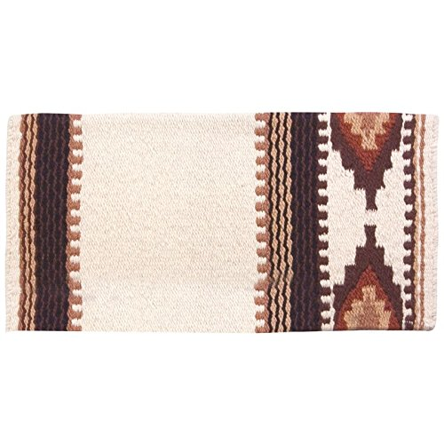 Mayatex Cowtown Saddle Blanket, Cream/Chestnut/Fawn, for sale  Delivered anywhere in USA