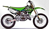 Kungfu Graphics Custom Decal Kit for 2003 2004 2005 2006 2007 2008 Kawasaki KX125 KX250, Black Green White