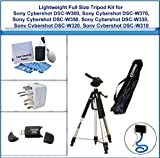 Lightweight Full Size Tripod Kit includes 72 Inch Tripod, Flexible Monopod, Universal Adapter, 5PC Lens Cleaning Kit, and USB 2.0 Card Reader for Sony Cybershot DSC-W380, Sony Cybershot DSC-W370, Sony Cybershot DSC-W350, Sony Cybershot DSC-W330, Sony Cybe