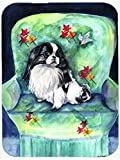 Caroline's Treasures Japanese Chin in Momma's Chair Glass Cutting Board, Large, Multicolor