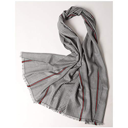 - Dig dog bone Women's Scarves Autumn and Winter Warm Shawl Collar Pure Wool Soft Wild Color Collar Scarf Size 210 73cm,Comfortable (Color : Gray, Size : One Size)