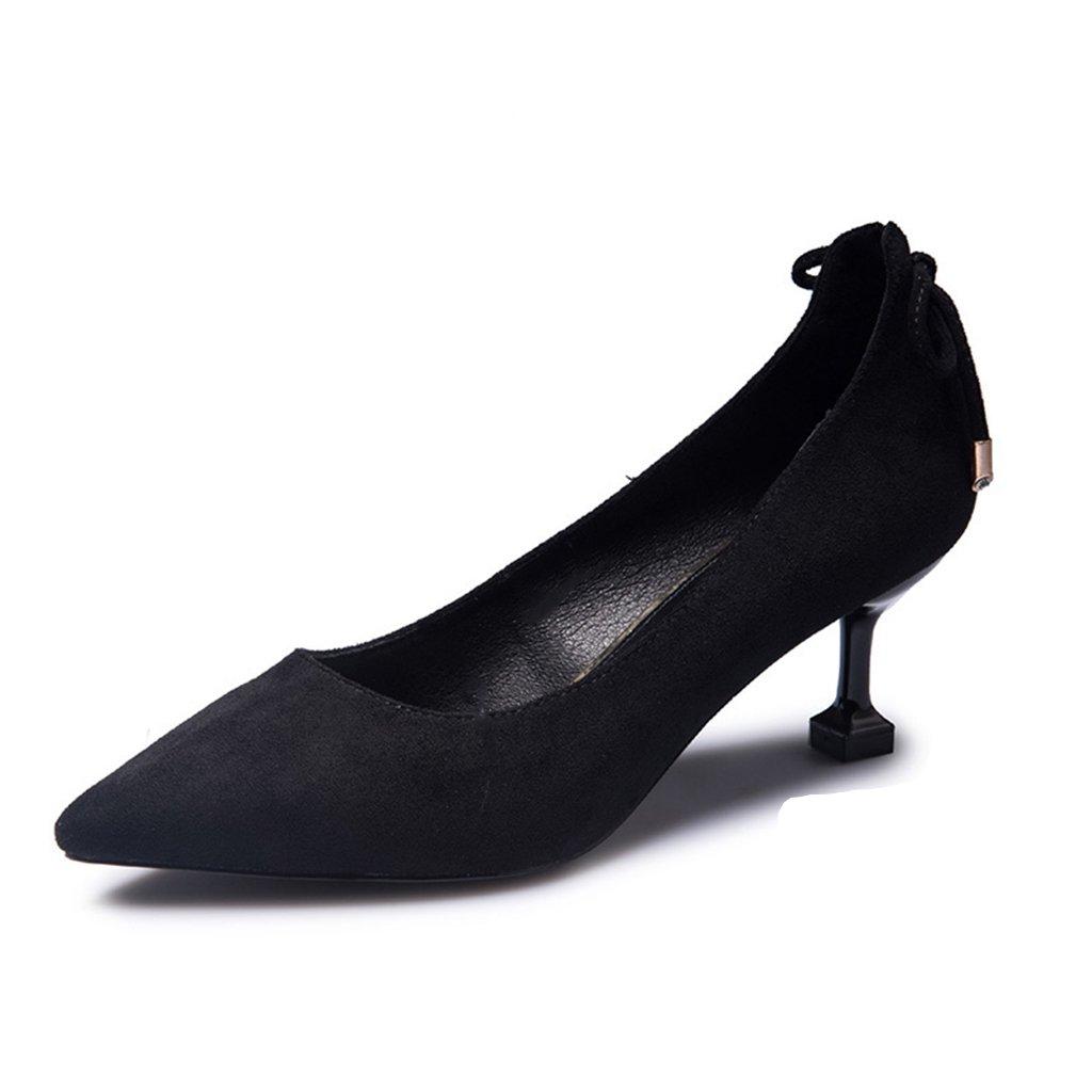JIANXIN Frauen Frühling Und Sommer Mode Wies Schuhe Mit High High High Heels Und High Heels. (Farbe   SCHWARZ größe   EU 38 US 7 UK 5 JP 24.5cm) 98b8fe