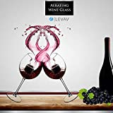 Levav Aerating Wine Glass – Goblet Design Instant Wine Aerator With 9 Aeration Spouts – Infuses Oxygen & Releases Flavor – Perfect Housewarming Or Birthday Gift For Wine Enthusiasts