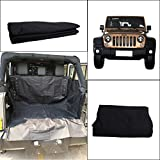 E-Most Back Rear Waterproof Car Bench Seat Cover Hammock Style For Dog Pet For 2007-2017 Jeep Wrangler JK