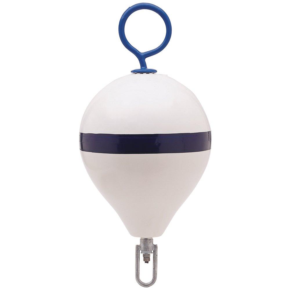 Polyform Mooring Buoy w/Iron 18 Diameter - White Blue Stripe POLYFORM US CM-3 WH-STR