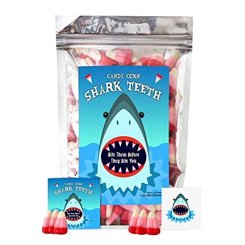 Shark Teeth Candy Corn - Funny Unique Birthday Candy for Girl, Boy & Teens Gift]()
