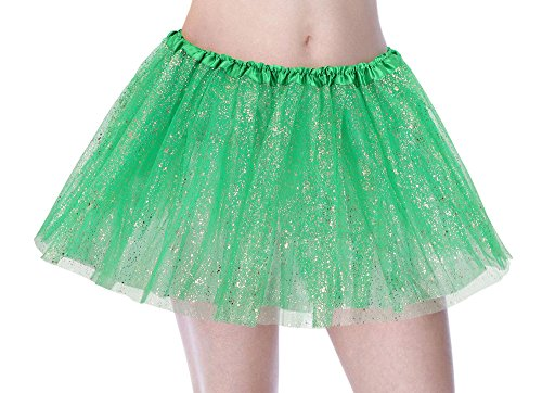 EPGM Tutu Women's Sequin Triple Layered Tulle Party Dance Ballet Skirt, Dark -