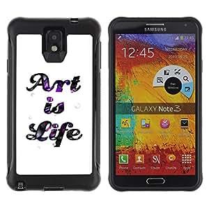 Suave TPU GEL Carcasa Funda Silicona Blando Estuche Caso de protección (para) Samsung Note 3 / CECELL Phone case / / Art Life Quote Creativity Inspiration Sign /