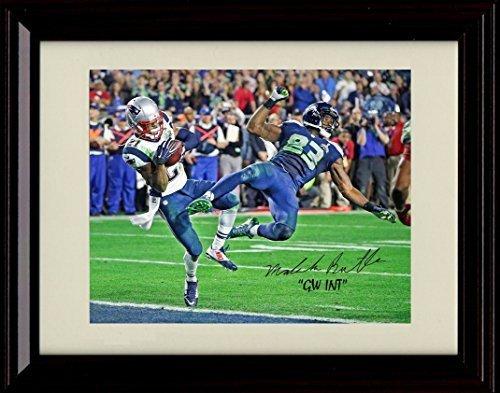 - Framed Malcolm Butler Autograph Replica Print - Game Winning Interception