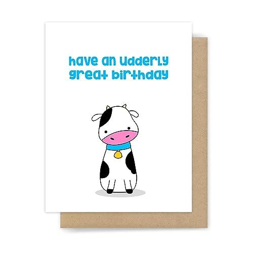 Amazon Funny Birthday Card Cow Pun Handmade Greeting Handmade