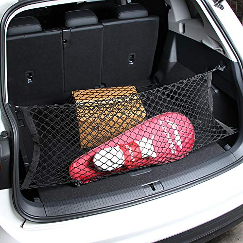 Vod_AutoParts Universal Car Rear Trunk Boot Organizer Pocket Cargo Net Mesh Storage 43.3 x 19.7 inch