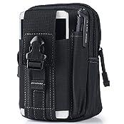 liangdongshop Multipurpose Tactical EDC Utility Gadget Pouch Waist Bag Smart Phone Holster(Black-model 1)