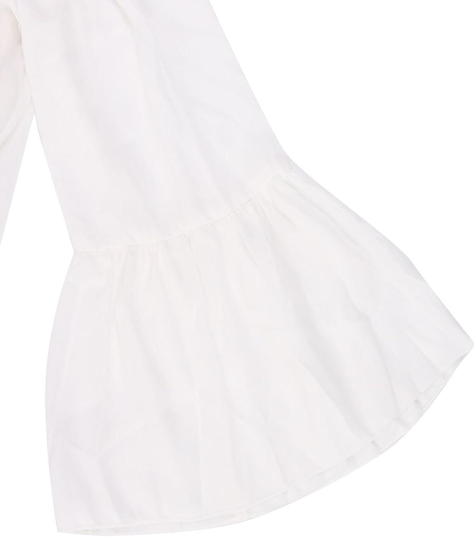 ZANZEA Donna Abito Corto Pizzo Maniche Lunghe Senza Spalle Vestito Donna in Chiffon Elegante Casual Moda Camicia Lunga Primavera Autunno