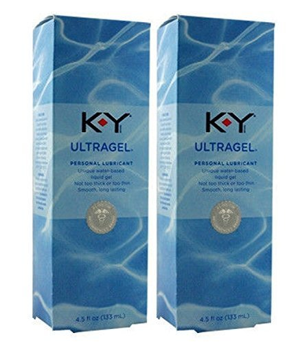 KY ULTRA GEL Water Based Lubricant Formerly Sensual Silk : Size 4.5 Oz. / 133 Ml (Pack of 2) by K-Y (Liquid Silk Sensual Lubricant)