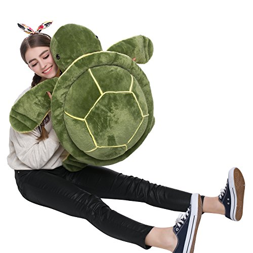 MorisMos Big Plush Eyes Sea Turtle Stuffed Animal Tortoise Toys for Children Girlfriend 25.6 inches