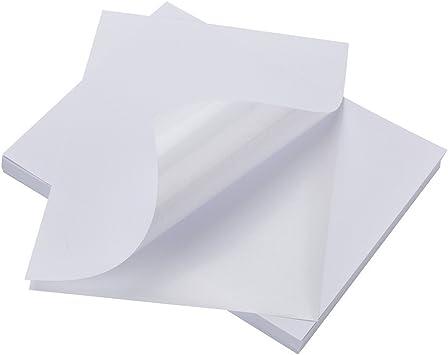 Amazon.com: 100 hojas de etiquetas adhesivas compatibles con ...
