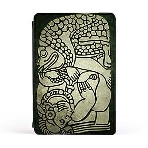 Mayan Frog Carcasa Protectora Premiun PU en Cuero, con Tapa para Apple® iPad Mini de DevilleArt + Se incluye un protector de pantalla transparente GRATIS