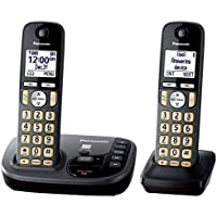 Panasonic KX-TGD222M Cordless Phone with Answering Machine- 2 Handsets